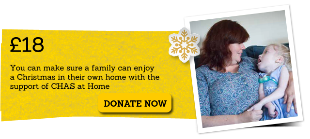 £18 can make sure a family enjoys Christmas in their own home.
